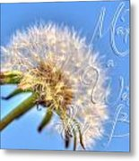 003 Make A Wish With Text Metal Print