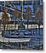 0037 Birdseye View Of Lafayette Square Metal Print