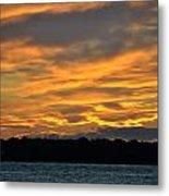 004 Awe In One Sunset Series At Erie Basin Marina Metal Print