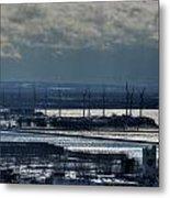 0046 Winter Turbines  Metal Print