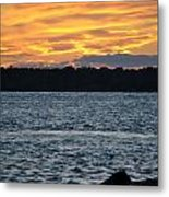 005 Awe In One Sunset Series At Erie Basin Marina Metal Print