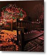 005 Christmas Light Show At Roswell Series Metal Print