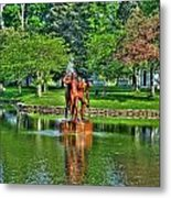005 Reflecting At Forest Lawn Metal Print