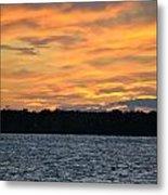006 Awe In One Sunset Series At Erie Basin Marina Metal Print