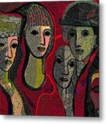 006 - Women And Masks ...  Metal Print