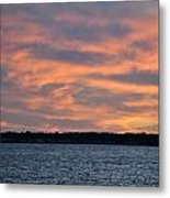 007 Awe In One Sunset Series At Erie Basin Marina Metal Print