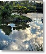 007 Delaware Park Japanese Garden Mirror Lake Series Metal Print