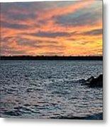 008 Awe In One Sunset Series At Erie Basin Marina Metal Print
