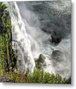 008 Niagara Falls Misty Blue Series Metal Print
