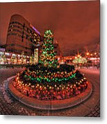 012 Christmas Light Show At Roswell Series Metal Print