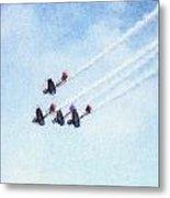 0161 - Air Show - Pastel Chalk 2  Metal Print
