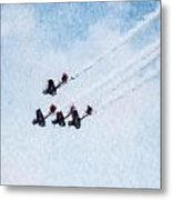 0161 - Air Show - Watercolor Metal Print