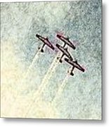 0166 - Air Show - Colored Photo 2 Hp Metal Print