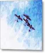 0166 - Air Show - Oil Stain Metal Print