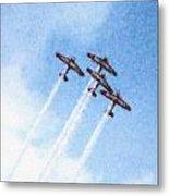 0166 - Air Show - Pastel Chalk 2 Metal Print