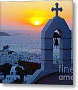 0209 Mykonos Sunset Metal Print