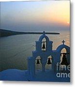 0210 Oia Sunset Metal Print