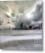 0242 Wintry Chicago Metal Print