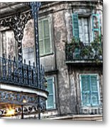 0275 New Orleans Balconies Metal Print