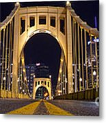 0304 Roberto Clemente Bridge Pittsburgh Metal Print