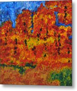 032 Abstract Landscape Metal Print