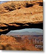 0375 Mesa Arch Metal Print