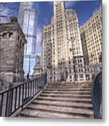 0499 Trump Tower And Wrigley Building Chicago Metal Print