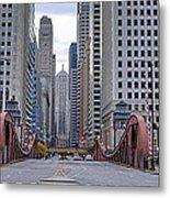 0525 Lasalle Street Bridge Chicago Metal Print