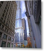 0527 Trump Tower From Wrigley Building Courtyard Chicago Metal Print