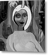063 -  Little Pregnant Bride ... Metal Print