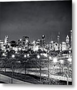 0647 Chicago Black And White Metal Print