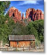 0682 Red Rock Crossing - Sedona Arizona Metal Print by Steve Sturgill