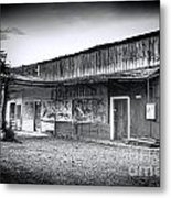 0706 Jerome Ghost Town Black And White Metal Print