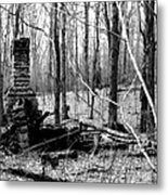 072606-32bw  Once Upon A Time There Was A Cabin In A Forest.. Metal Print