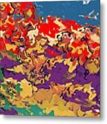 0806 Abstract Thought Metal Print