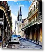 0928 St. Louis Cathedral - New Orleans Metal Print