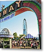 Midway Fun And Excitement  Metal Print