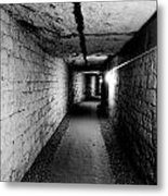 Image Of The Catacomb Tunnels In Paris France Metal Print