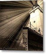 Ludington  Light House Michigan Metal Print