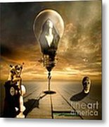 Protected In The Light Of An Angel Metal Print