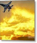 1-iaf F-16i Fighter Jet Metal Print
