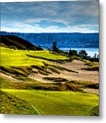 #16 At Chambers Bay Golf Course - Location Of The 2015 U.s. Open Tournament Metal Print by David Patterson