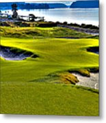 #17 At Chambers Bay Golf Course - Location Of The 2015 U.s. Open Championship Metal Print by David Patterson