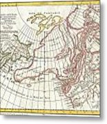 1772 Vaugondy  Diderot Map Of Alaska The Pacific Northwest And The Northwest Passage Metal Print