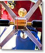 1907 Panhard Et Levassor Demi Toneau 38 Hp Steering Wheel Metal Print by Jill Reger