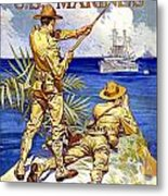 1917 - United States Marines Recruiting Poster - World War One - Color Metal Print