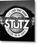 1925 Stutz Series 695h Speedway Six Torpedo Tail Speedster Emblem Metal Print