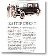 1926 Ad Lincoln Auto Automobile Metal Print