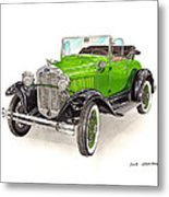 1931 Ford Model A Roadster Metal Print