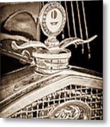 1931 Model A Ford Deluxe Roadster Hood Ornament Metal Print